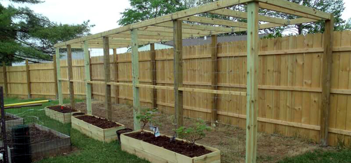 Raised Flower Beds, Trellis and Fencing